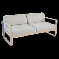 Canapé BELLEVIE de Fermob, Coussin Gris flanelle, Muscade