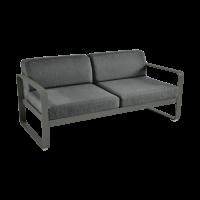 Canapé BELLEVIE de Fermob, coussin gris graphite, Romarin