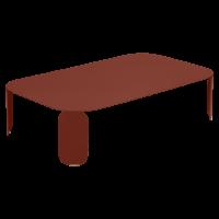 Table basse rectangulaire BEBOP de Fermob, H.29, Ocre rouge