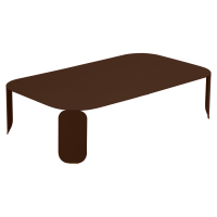 Table basse rectangulaire BEBOP de Fermob, H.29, Rouille