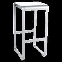 Tabouret haut sans dossier BELLEVIE de Fermob, Blanc coton