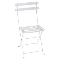 Chaise BISTRO métal de Fermob, Blanc Coton