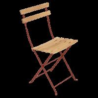 Chaise BISTRO NATUREL bois de Fermob, Ocre rouge