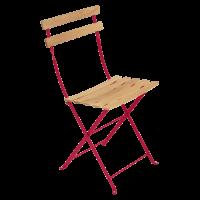 Chaise BISTRO NATUREL bois de Fermob, Rose praline