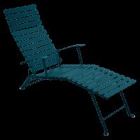 Chaise longue pliante BISTRO de Fermob, bleu acapulco