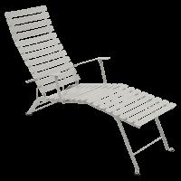 Chaise longue pliante BISTRO de Fermob, Gris argile
