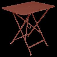 Table rectangulaire 77 x 57 cm Bistro de Fermob, ocre rouge