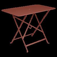Table rectangulaire 97 x 57 cm  BISTRO de Fermob, ocre rouge
