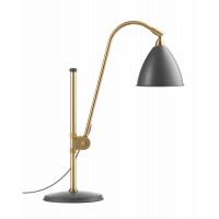 Lampe à poser BESTLITE BL1 de Gubi, Structure laiton, Gris