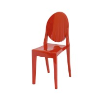 Chaise VICTORIA GHOST de Kartell, Rouge