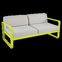 Canapé BELLEVIE de Fermob, Coussin Gris flanelle, Verveine
