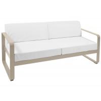 Canapé BELLEVIE de Fermob, Coussin blanc grisé, Muscade