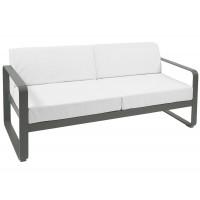 Canapé BELLEVIE de Fermob, Coussin blanc grisé, Romarin