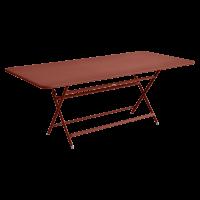 Table rectangulaire CARACTÈRE de Fermob, ocre rouge