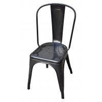 Chaise A de Tolix acier brut verni janvier 1