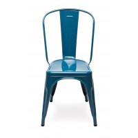 Chaise A de Tolix acier laqué, 12 coloris