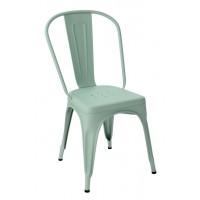 Chaise A de Tolix acier mat texturé, 9 coloris
