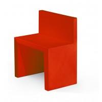 Chaise ANGOLO RETTO de Slide, Rouge