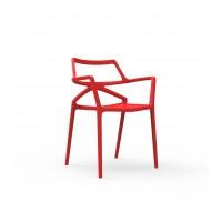 Chaise DELTA de Vondom, Rouge