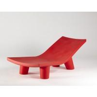 Chaise longue LOW LITA LOUNGE de Slide, Rouge
