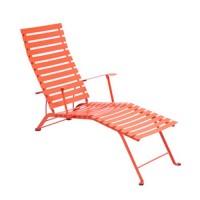 Chaise longue pliante BISTRO de Fermob, Capucine