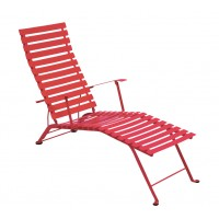 Chaise longue pliante BISTRO de Fermob, Coquelicot