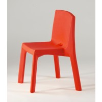 Chaise Q4 de Slide, Rouge