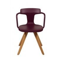 Chaise T14 de Tolix pieds chêne 9 coloris
