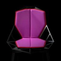 Coussin double pour chaise ONE de Magis, Fuchsia / Ourlet rouge