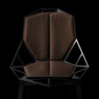Coussin double pour chaise ONE de Magis, Marron / Ourlet marron foncé