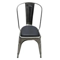 Kit galette cuir noir pour chaises A, A56 et A97 de TOLIX