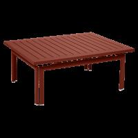 Table basse COSTA de Fermob, ocre rouge