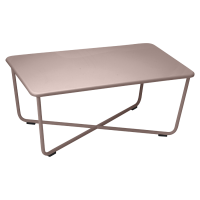 Table basse CROISETTE de Fermob, Rouille