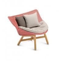 Chaise longue MBRACE de Dedon, Rouge