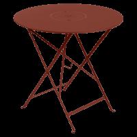 Table pliante FLORÉAL de Fermob D.77 cm, Ocre rouge