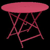 Table pliante FLORÉAL de Fermob D.77 ou D.96 cm, D. 96, Rose praline