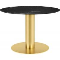 Table 2.0 de Gubi, base laiton, Ø110 cm, 9 coloris