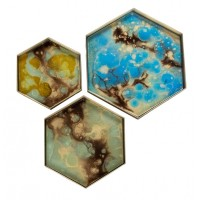 Plateau hexagonal ORGANIC MINI de Ethnicraft Accessories, 3 tailles, 3 couleurs