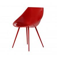 Chaise LAGO de Driade, Rouge
