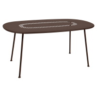 Table ovale LORETTE 160 x 90 cm de Fermob, Rouille