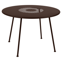 Table ronde LORETTE Ø.110 cm de Fermob, Rouille