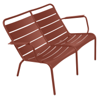 Lounger Duo LUXEMBOURG de Fermob, ocre rouge