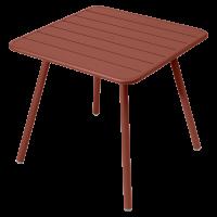 Table carrée 4 pieds LUXEMBOURG de Fermob, Ocre rouge
