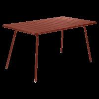 Table LUXEMBOURG pour 6 personnes de Fermob, Ocre rouge