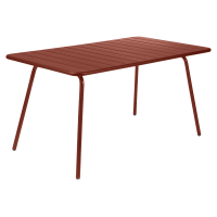 Table rectangulaire confort 6 LUXEMBOURG de Fermob, ocre rouge