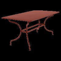 Table MANOSQUE de Fermob, ocre rouge
