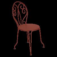 Chaise MONTMARTRE de Fermob, ocre rouge