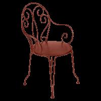 Fauteuil MONTMARTRE de Fermob, ocre rouge