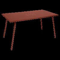 Table haute MONCEAU de Fermob, 146x80x74, ocre rouge