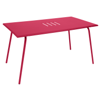 Table haute MONCEAU de Fermob, 146x80x74, Rose praline